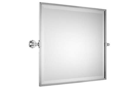 style moderne bevelled square tilting mirror 535mm architectural ironmongery sds