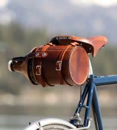 Leather Beer Growler Bike Carrier