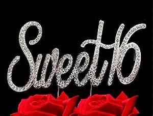 FAJ Number 16 Sweet Sixteen Rhinestone Crystal Birthday ...