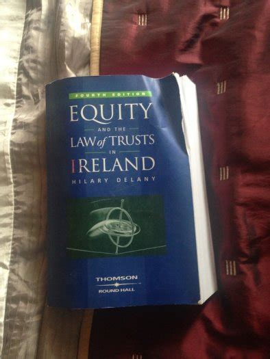 College Law Book Equity And The Law Of Trusts In Ireland