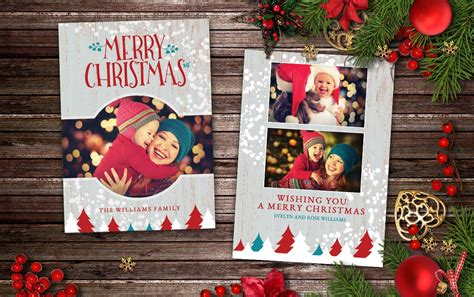 christmas card rustic cottage postcard templates