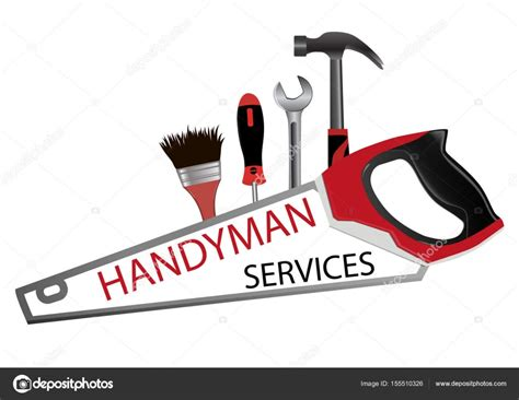 Επισκευή και κατασκευή λογότυπο. Επαγγελματικός Handyman