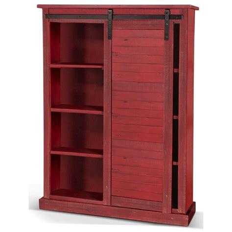 sunny designs sunny office rustic bookcase  sliding