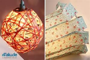 Lampen Selber Basteln Anleitung : lampenschirm selber machen und beziehen 2 ideen zum basteln ~ Markanthonyermac.com Haus und Dekorationen