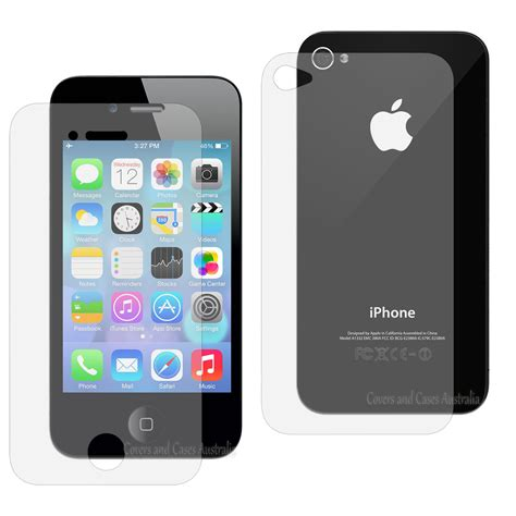 iphone 4s 4g clear front and back lcd screen protector for apple iphone