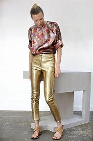 Gold Sequin Pants Woman