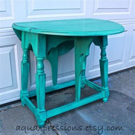 blue shabby chic furniture bayside blue vintage table side end table nightstand accented with dark glaze shabby chic