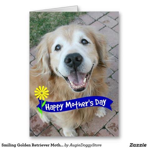 smiling golden retriever mothers day card zazzlecom
