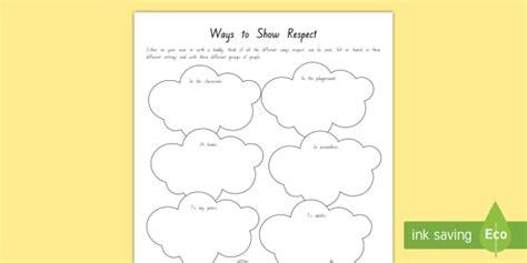 Respect Worksheet  Activity Sheet  New Zealand Back To School
