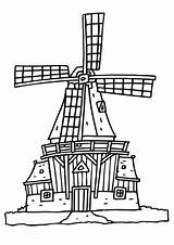 Mill Coloring Wind Molen Molens Kleurplaat Drawing Pages Nederland Getdrawings sketch template