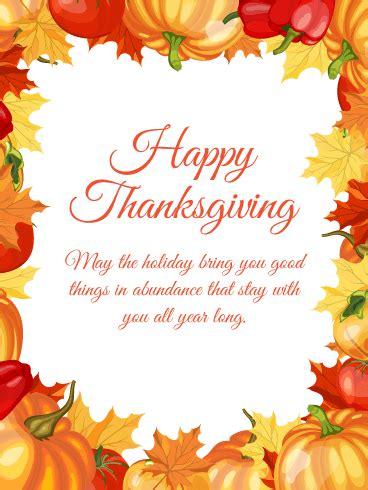 vibrant maple leaves happy thanksgiving card birthday