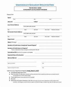 Basic application forms for Scholarship forms template