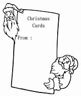 Cards Coloring Printable Blank Colouring Santa Greeting Sheets Holiday Popular Anycoloring sketch template