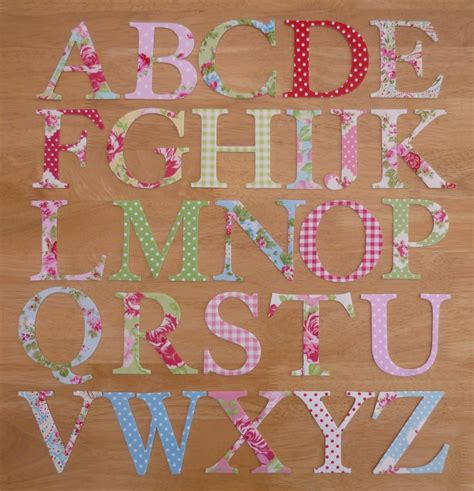 shabby chic fabric letters 4 shabby chic iron on fabric letters 10cm uppercase