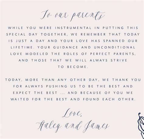 write    letter   parents wedding