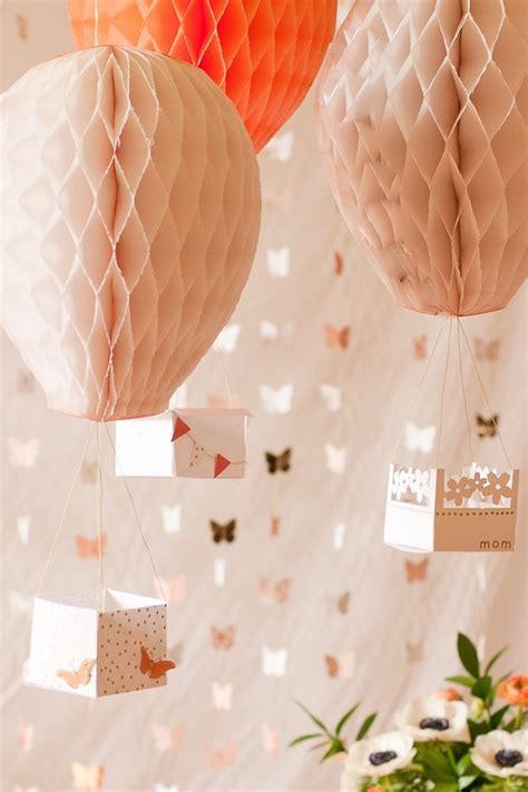 Air Decorations - diy air balloon decor flax twine