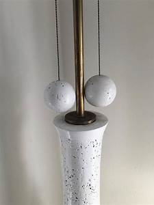 monumental milo baughman white lacquered cork floor lamp With milo floor lamp gold