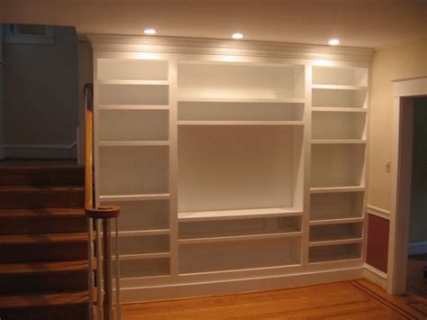 Kreg Jig Bookcase by Built In Bookshelf Plans Painted Built In Bookcases