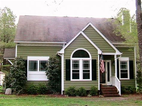 Olive Green Colored House Trim