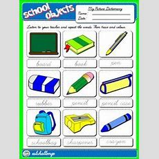 School Objects  Picture Dictionary  Esl  Pinterest  English, Teaching English And English