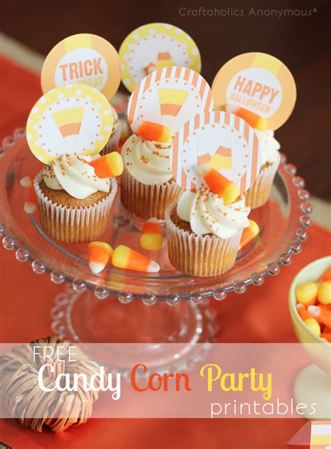 craftaholics anonymous candy corn party printables