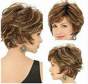 2015 New style Golden brown with Blonde Highlights Short ...