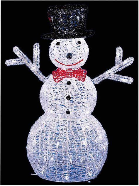 light up snowman indoor 76cm led light up acrylic snowman statue xmas in outdoor