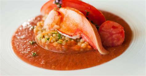cuisiner un risotto homard gaspacho et fregola sarda recette par jehan