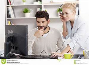 Young Business People Working At Office Stock Photo ...