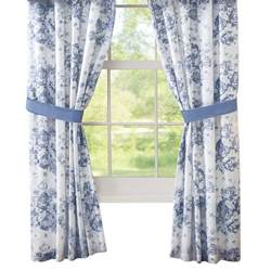 julianne blue and white floral drapes by collections etc