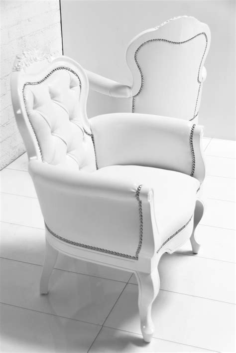 www roomservicestore cannes chair in white faux leather