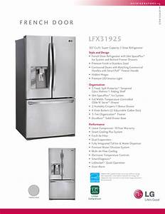 Download Free Pdf For Lg Lfx31925st Refrigerator Manual