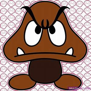 How to Draw a Goomba, Step by Step, Video Game Characters ...