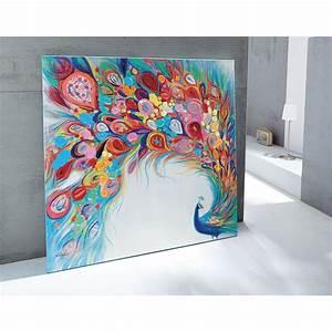 Gemalte Bilder Auf Leinwand : farbenfrohes xl bild pfau acryl auf leinwand bunt k che haushalt rooms ~ Frokenaadalensverden.com Haus und Dekorationen