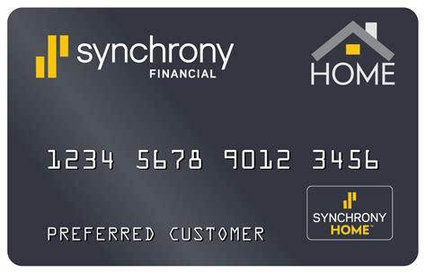 Synchrony Financial Home Design Credit Card Synchrony Bank