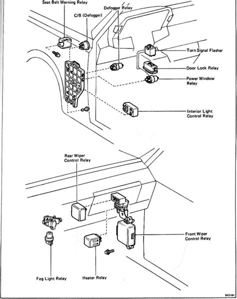 Passenger Compartment Switches And Relays - Toyota Celica