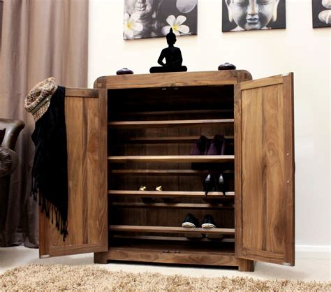 Shoes Cupboard by Strathmore Solid Walnut Home Furniture Hallway Shoe