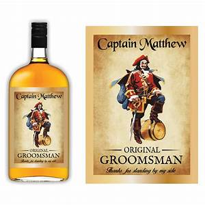 captain morgan groomsmen liquor label icustomlabel With captain morgan label template