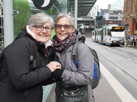 Elderly Lesbians Australia Hold Hands Masse