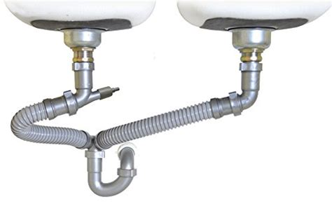 kitchen sink parts and accessories snappy trap 1 1 2 quot all in one drain kit for double bowl