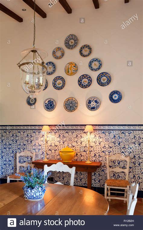 dining room plate display