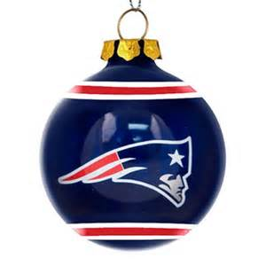 new england patriots glass ball ornament