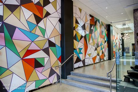 commercial wall mural  calgary wallpaper installer