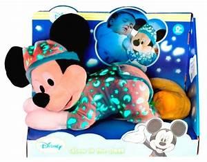 Peluche Musicale Et Lumineuse : disney peluche mickey couch lumineux 30 cm ~ Teatrodelosmanantiales.com Idées de Décoration