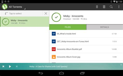 torrent on android utorrent android