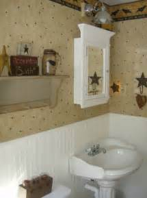 primitive bath decor home ideas