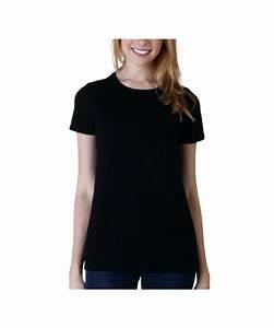 Next Level Black Womens T-Shirt