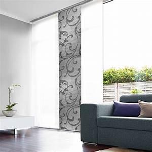 Panneau Japonais Design : panneau japonais tamisant gris design arabesque ~ Melissatoandfro.com Idées de Décoration
