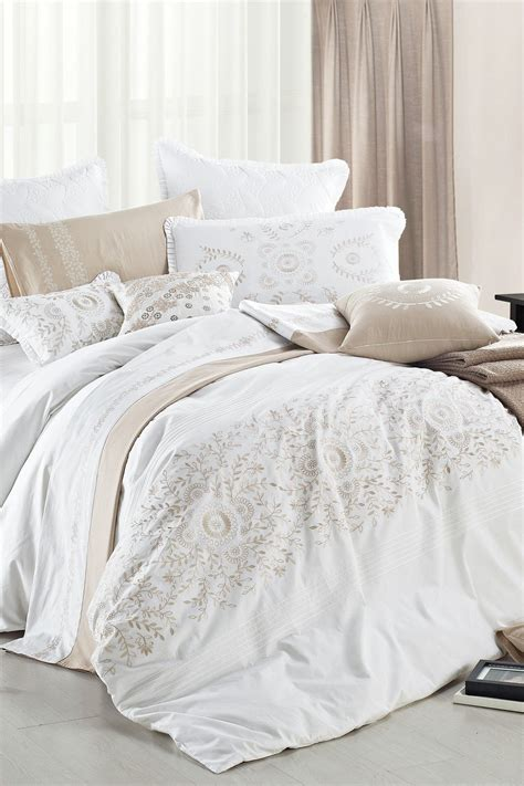 White And Gold Bed Covers by Midas Duvet Set White Gold On Hautelook Home