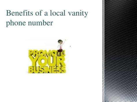 vanity phone numbers benefits of local vanity numbers